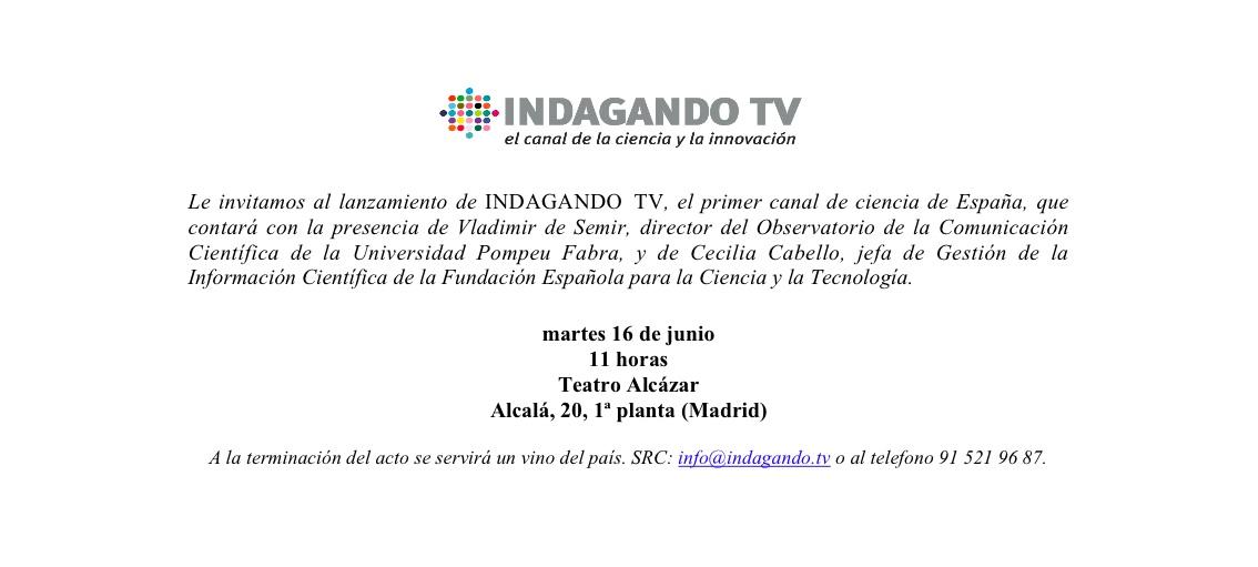 Invitacion2  Presentación de INDAGANDO TV invitacion2