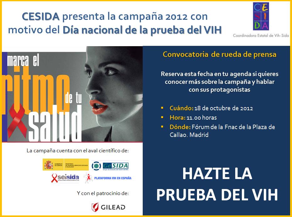 Hazte la prueba del VIH: Spot Cesida  Hazte la prueba del VIH: Spot Cesida cartel spot