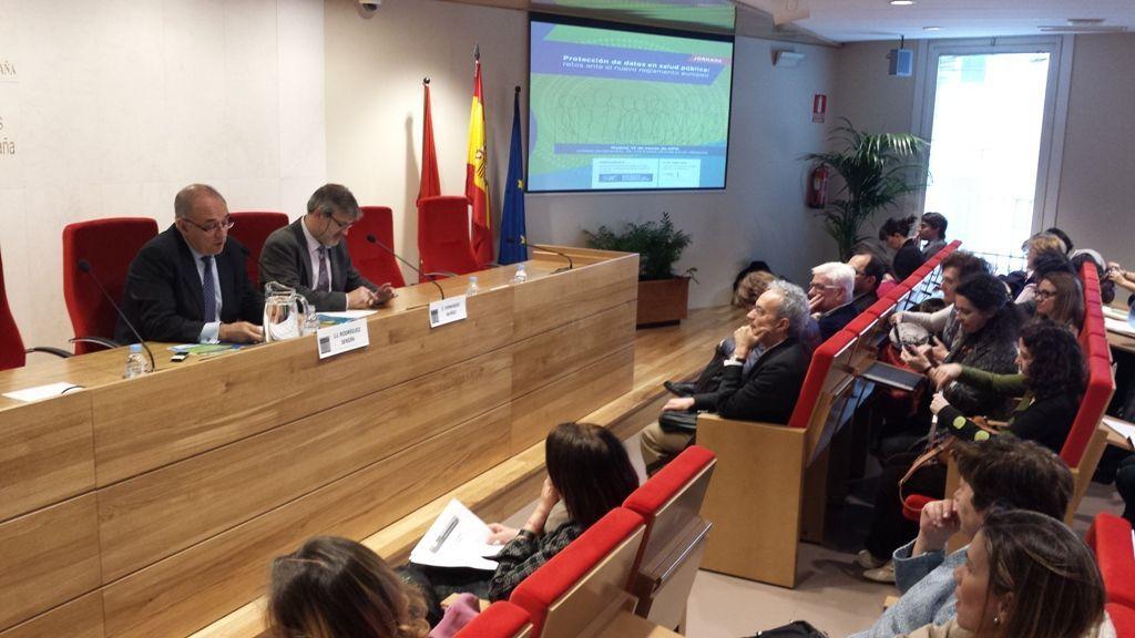 Inauguración JornadaSEE 130315  Expertos en salud pública piden a Europa que concilie el nuevo reglamento de protección de datos con la salud pública inauguracic3b3n jornadasee 130315